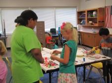 Marissa volunteering at Bright Lights over the summer.