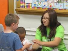 Sophia Volunteering at Bright Lights over the summer.